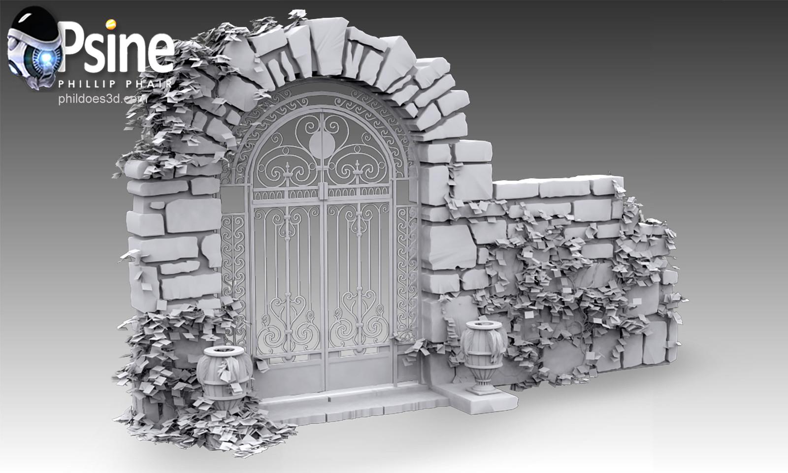 Decorative Gate Occlusion