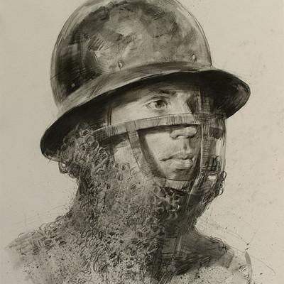 Pavel goloviy portrait medieval helmet 2
