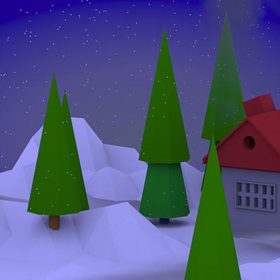 Briony painter snow scene