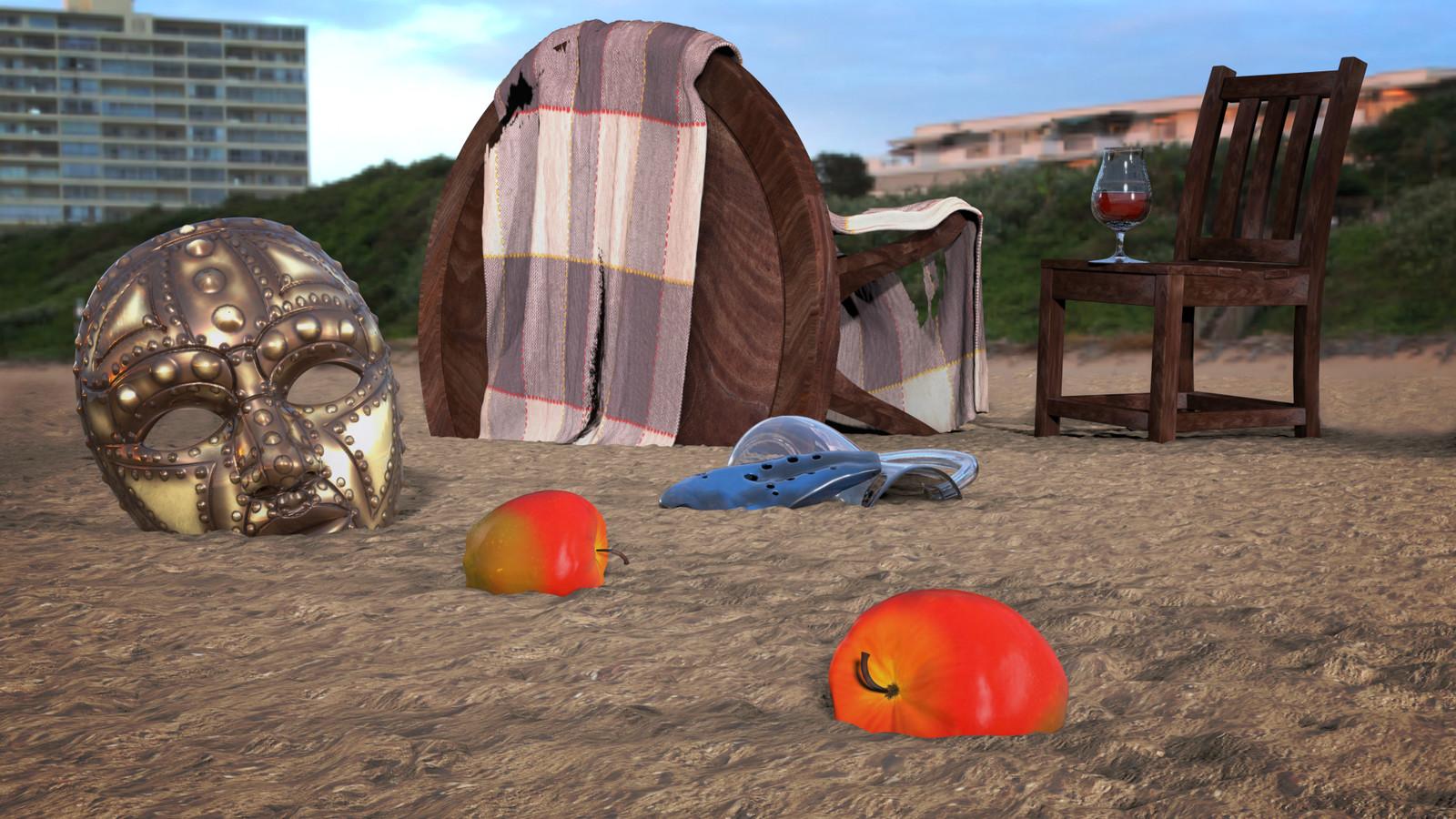 3D Beach Render