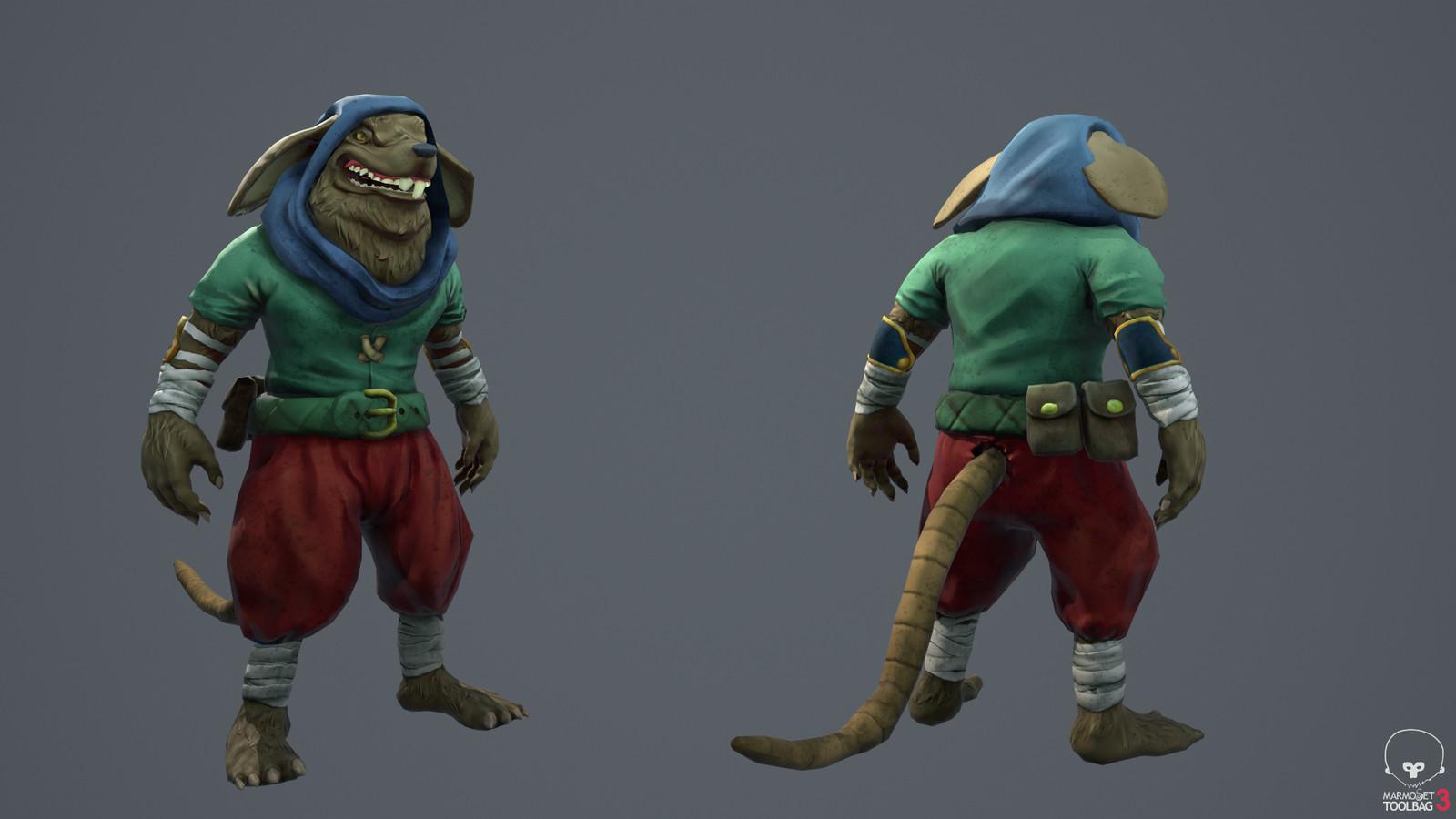 Rat-man: front & back