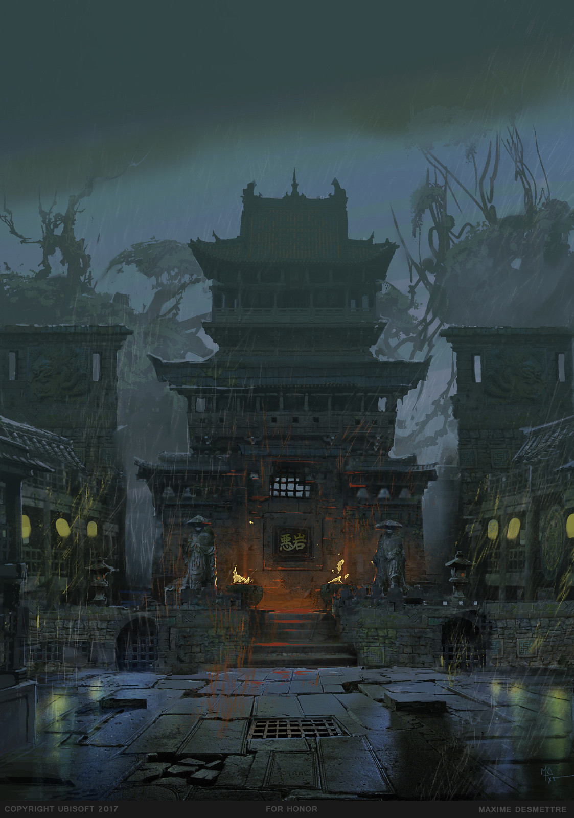 For Honor : Fighting Arena environment study (2015) Photoshop