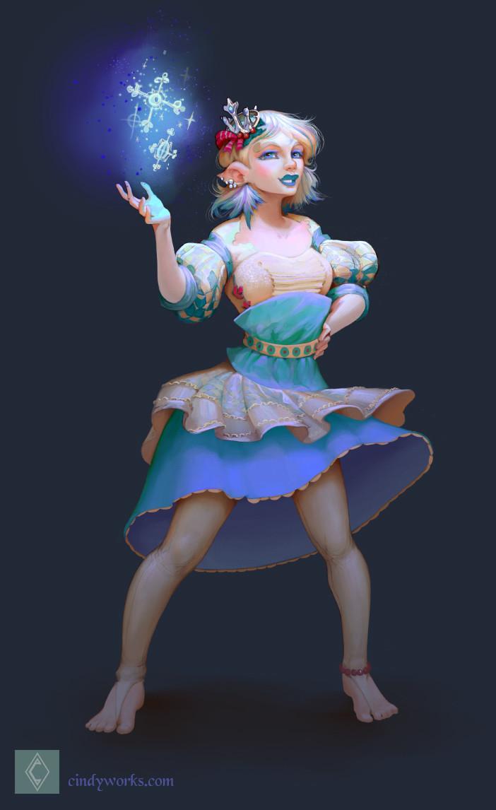 Cindy avelino elfa natal concept