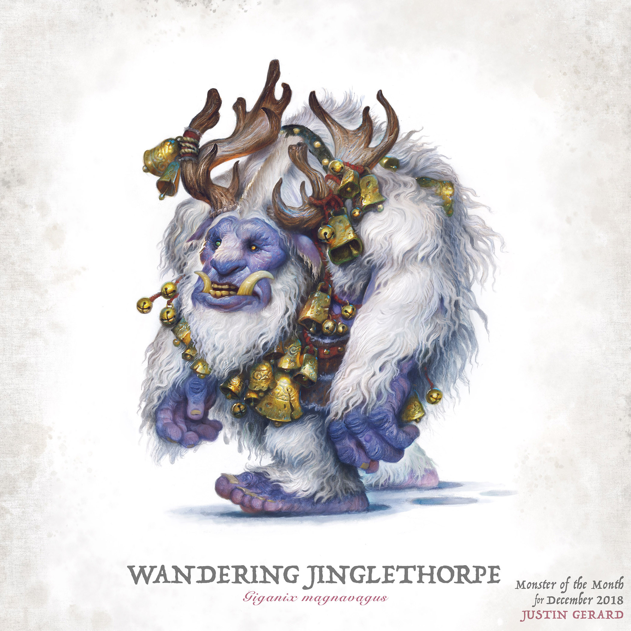 """""""The Wandering Jinglethorpe"""" Final colors. Photoshop color over 8"""" x 10"""" traditional drawing."""