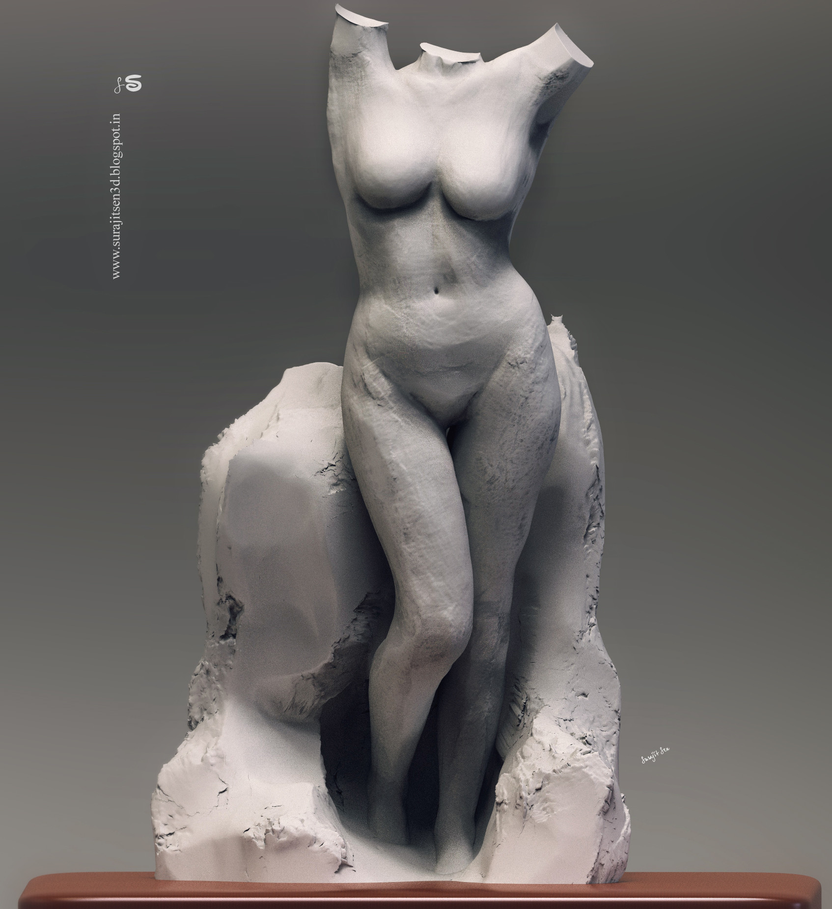 Surajit sen lady digital sculpt surajitsen 11122018