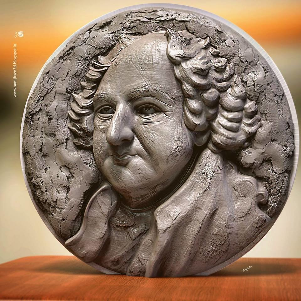 I'm very poor in Relief Sculpture!  But tried to make a basic form of Digital relief sculpt. ..lot of works are pending!   Wish to share a snap :)