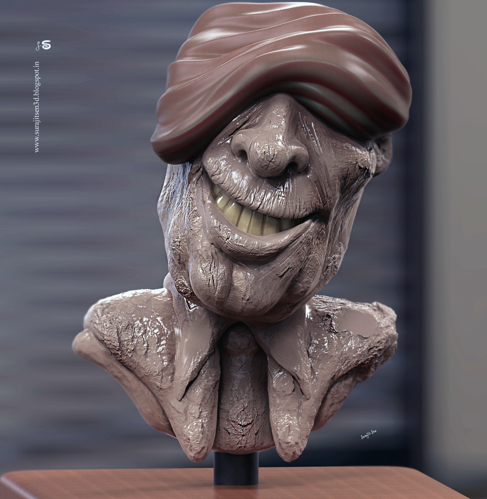 Wish to share my speed Digital sculpt study. .. Fun with brushes!