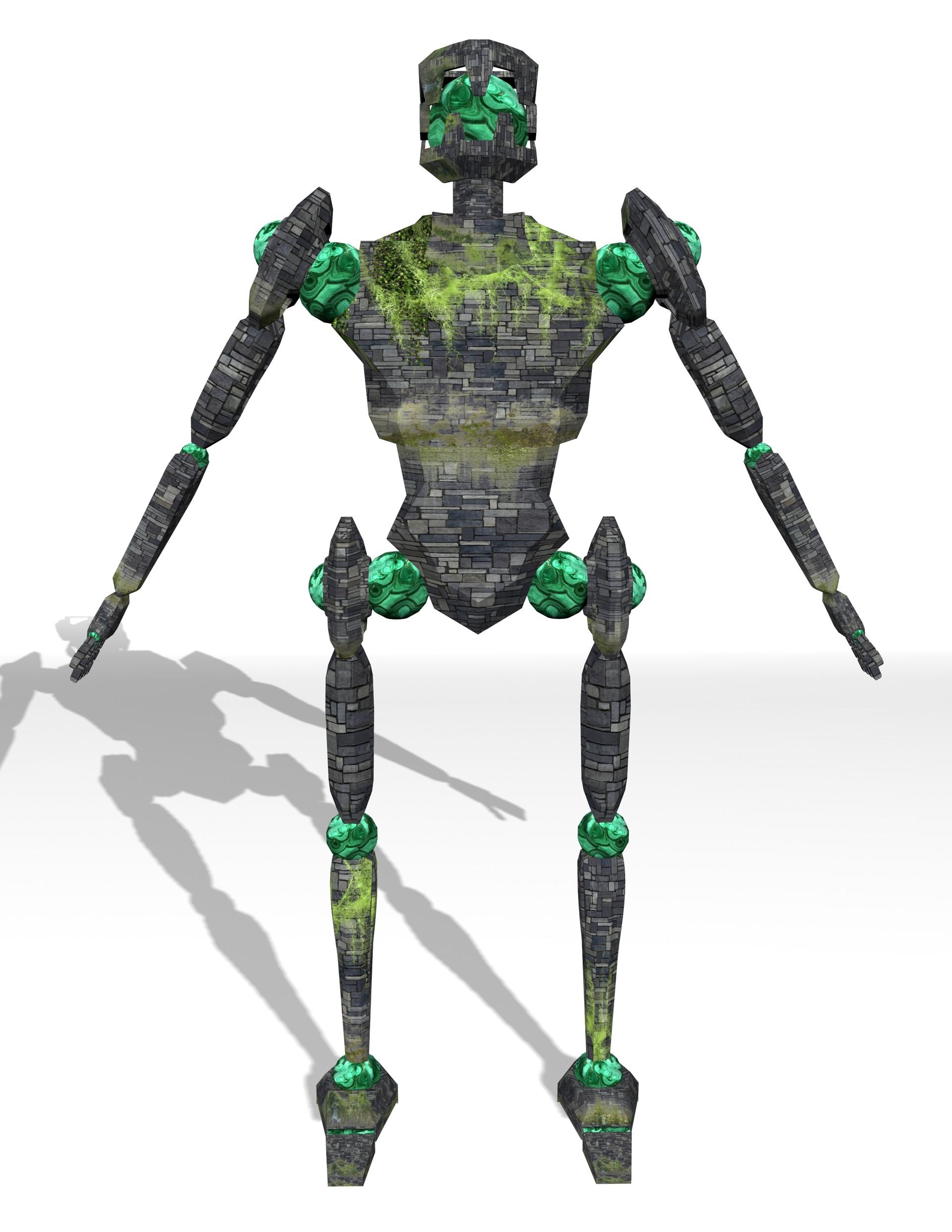 Matthew White Updated 3d Stone Golem Character