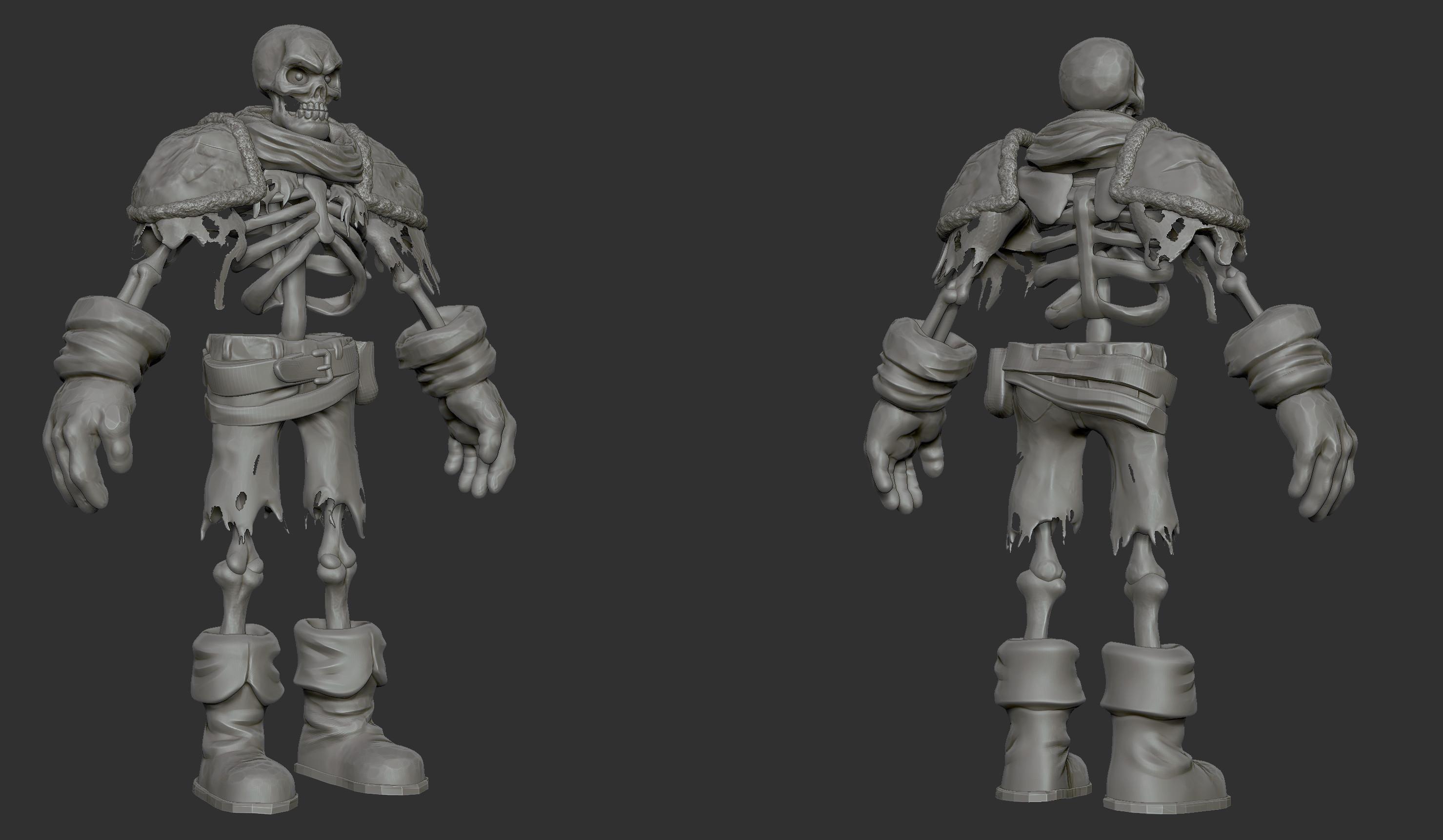 Skeleton: high poly