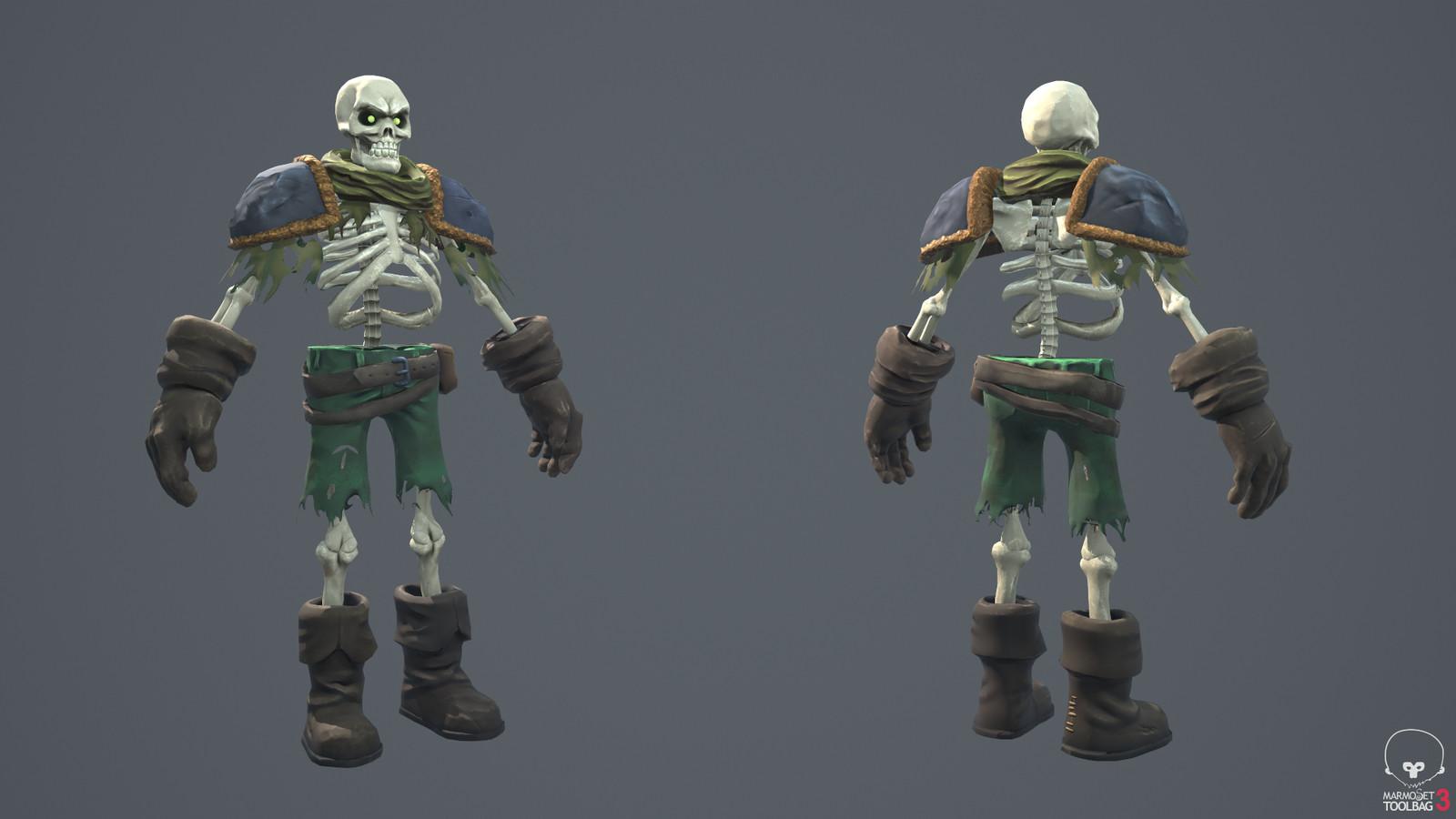Skeleton: front & back