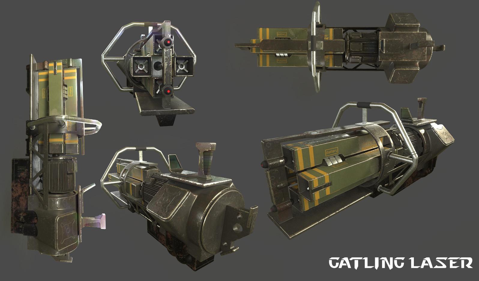 ArtStation - Gatling laser, Vinh LongThe