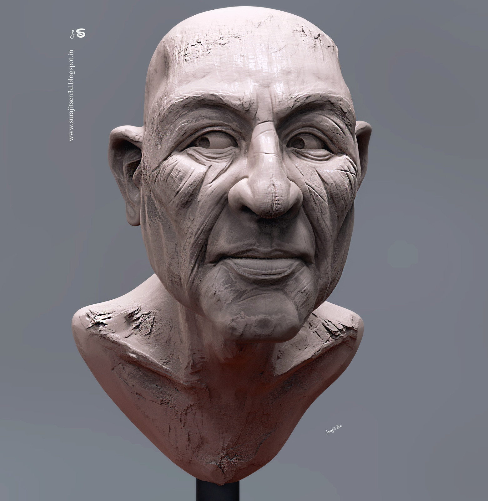 Clever.  My weekend speed Digital sculpt study.  Tried to focus on expression.