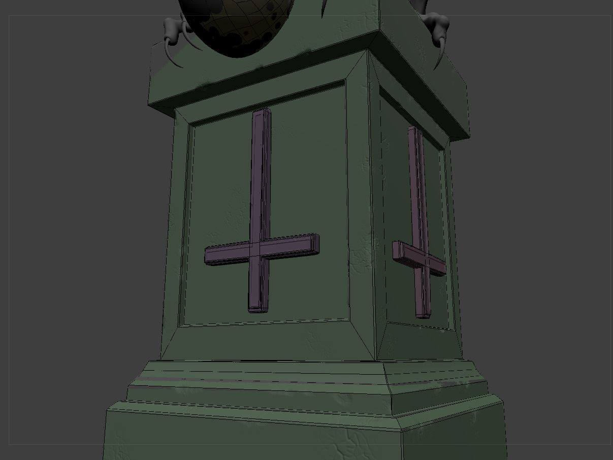Making the low poly pedestal was something new for me and was quite relaxing to do actually.