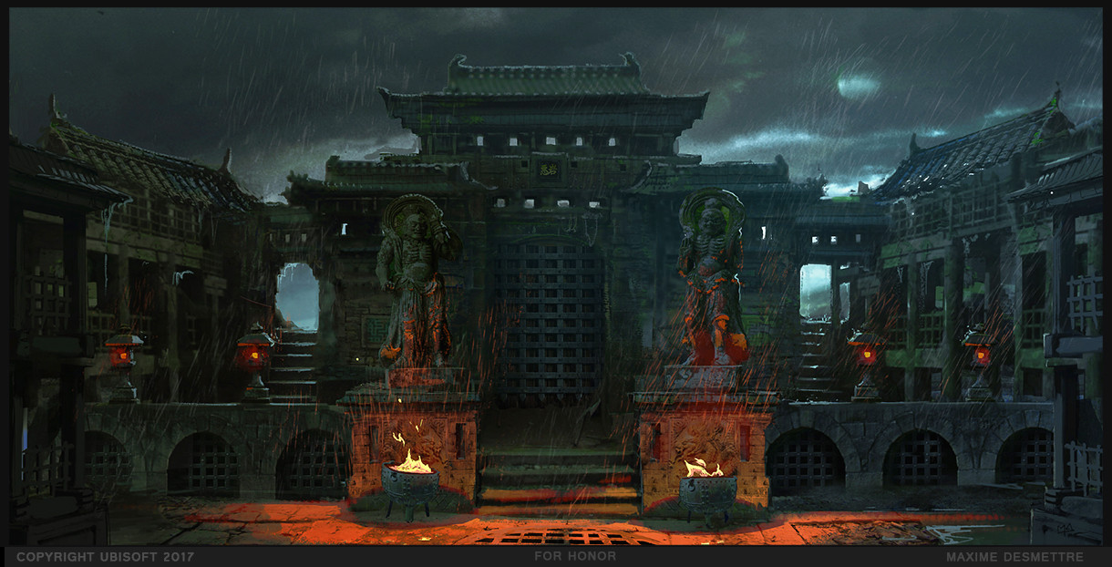 For Honor : Fighting Arena environment study (2015) This is an early version of the same location, that later lead to the above version.