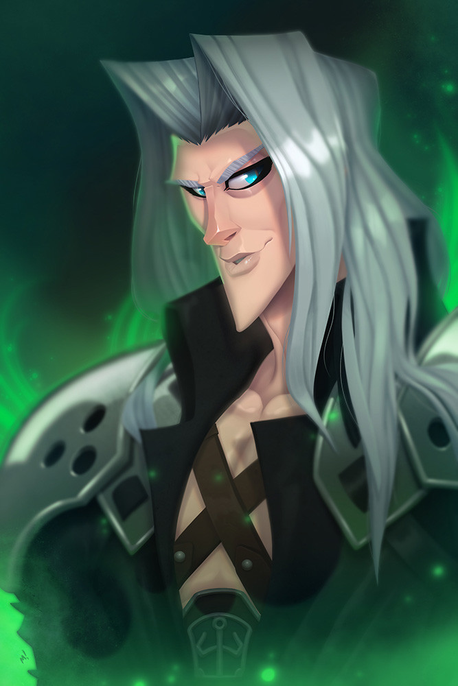 """""""Look into my eyes, Cloud... Ask me about my hair product...."""""""