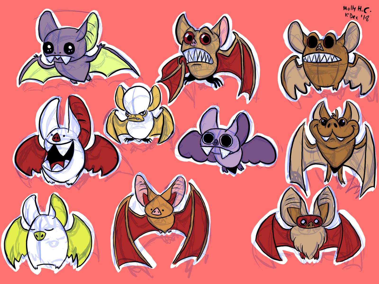 Bat Character Concepts + Animation