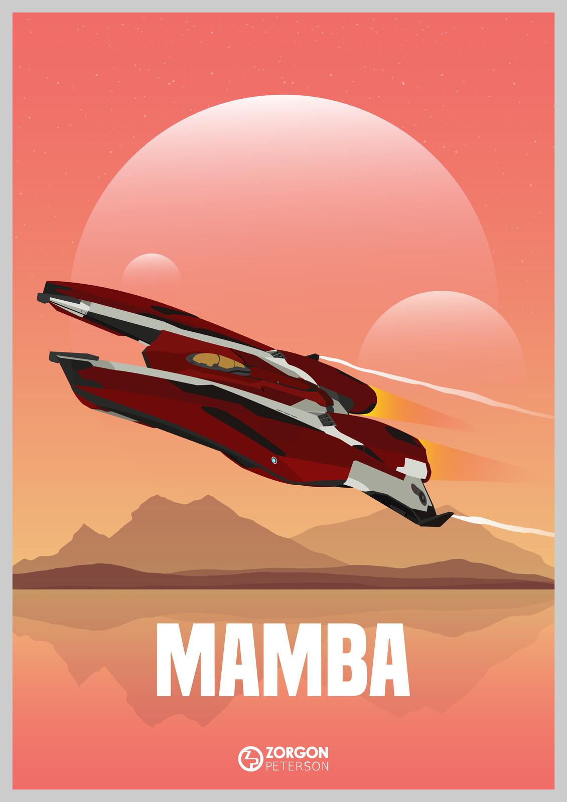 Elite Dangerous - Mamba Poster