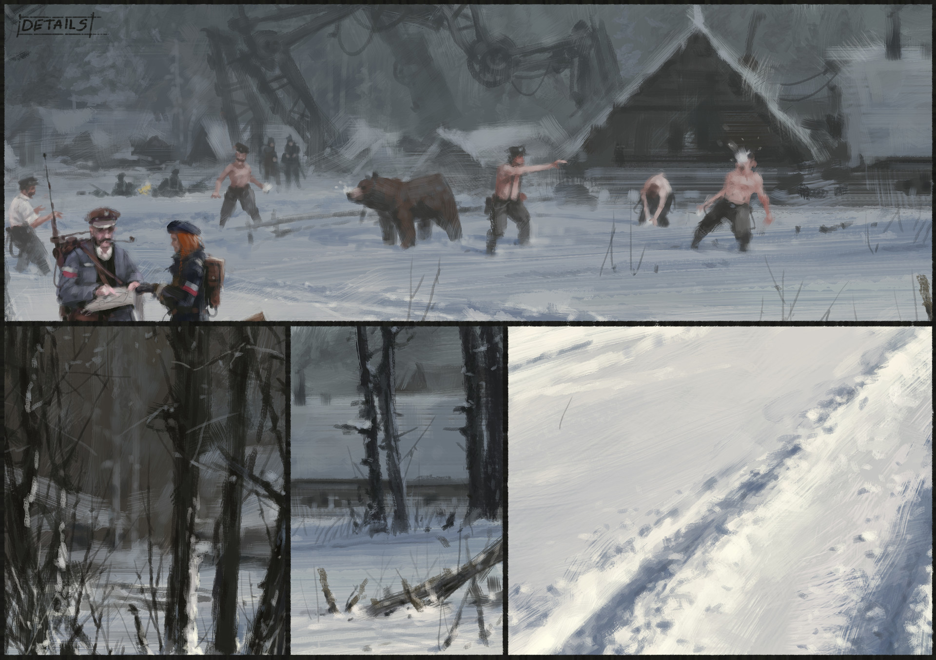 Jakub rozalski 1920 day before battle process05