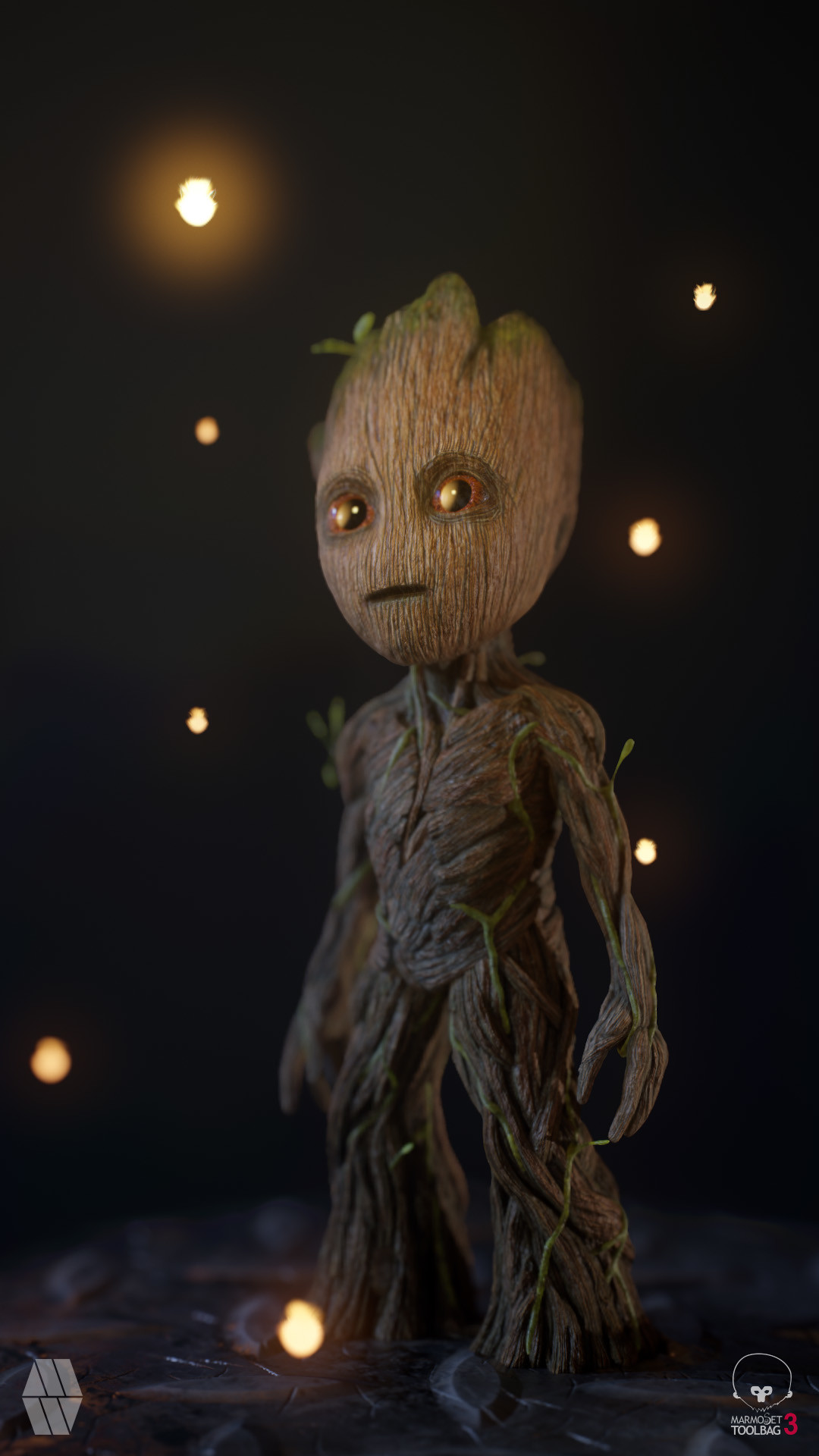Artstation Baby Groot Concept Personal Project Marcus Whinney
