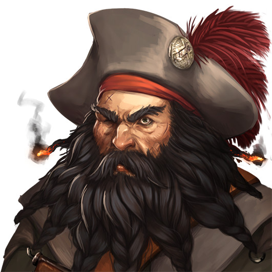 Captain Blackbeard, made for the main storyline