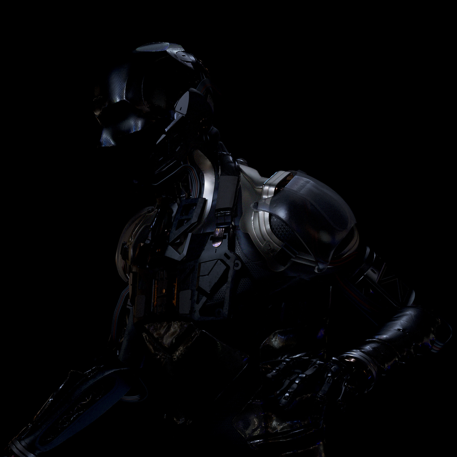 Accidental dark render that I liked the look of.