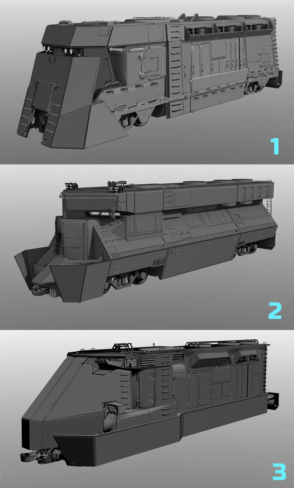 Armored Train Sketch