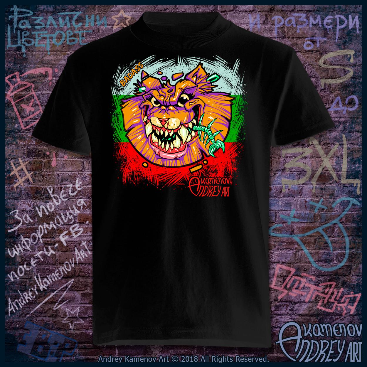 Andrey kamenov badass cat02 t shirt bg 01