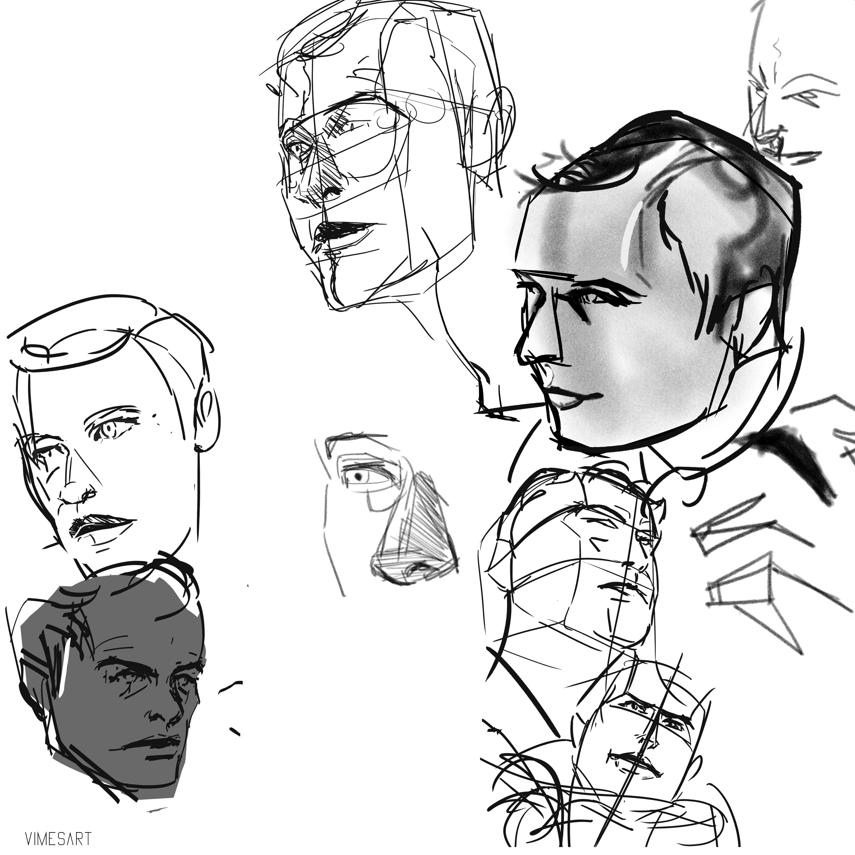 Style Studies for detectives face