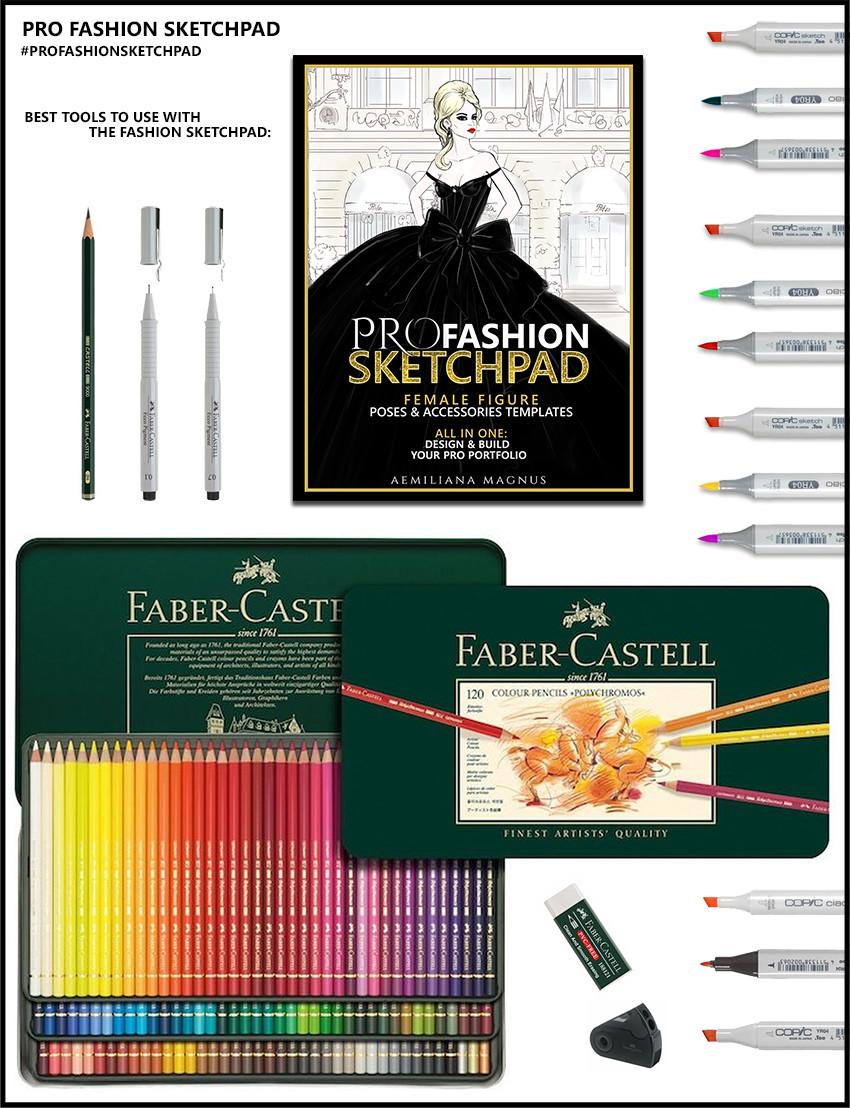 Artstation Pro Fashion Sketchpad Fashion Designer Sketchbook 600 Fashion Templates Aemiliana Magnus