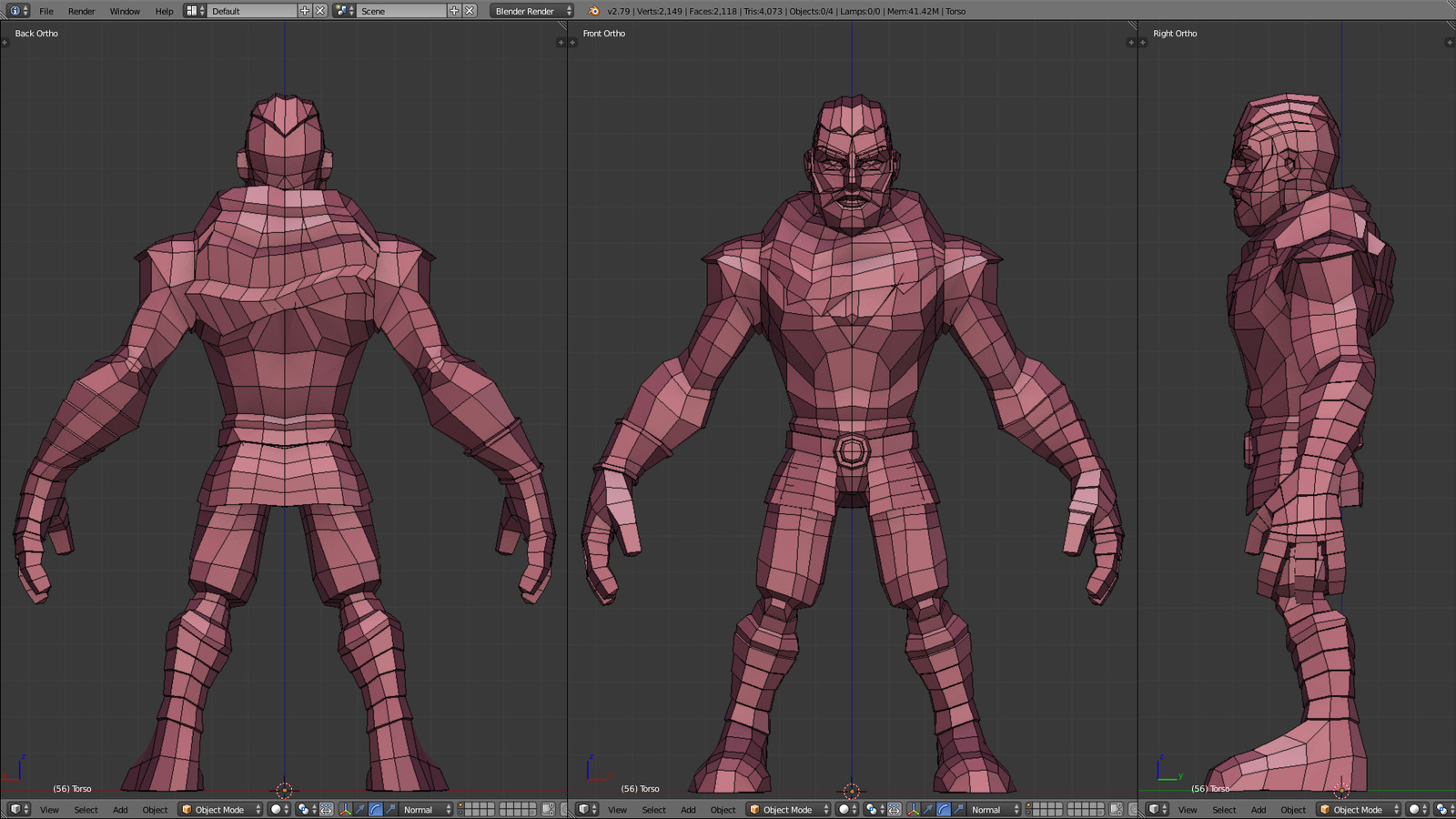 Blender Viewport - Mesh Topology