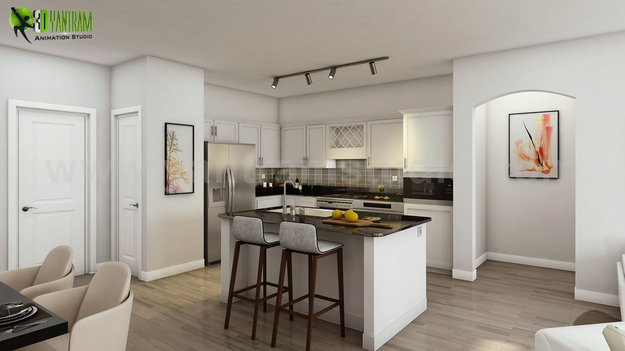 Artstation 3d Interior Design Apartment With Gym Developed By Architectural Design Studio Boston Usa Yantram Architectural Design Studio