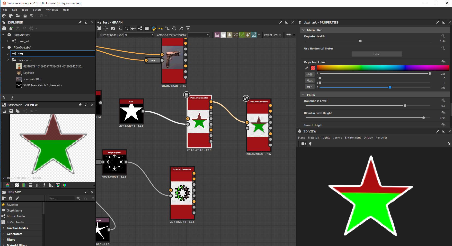 Gary Hanna - Pixel Art Generator for Substance Designer / Painter