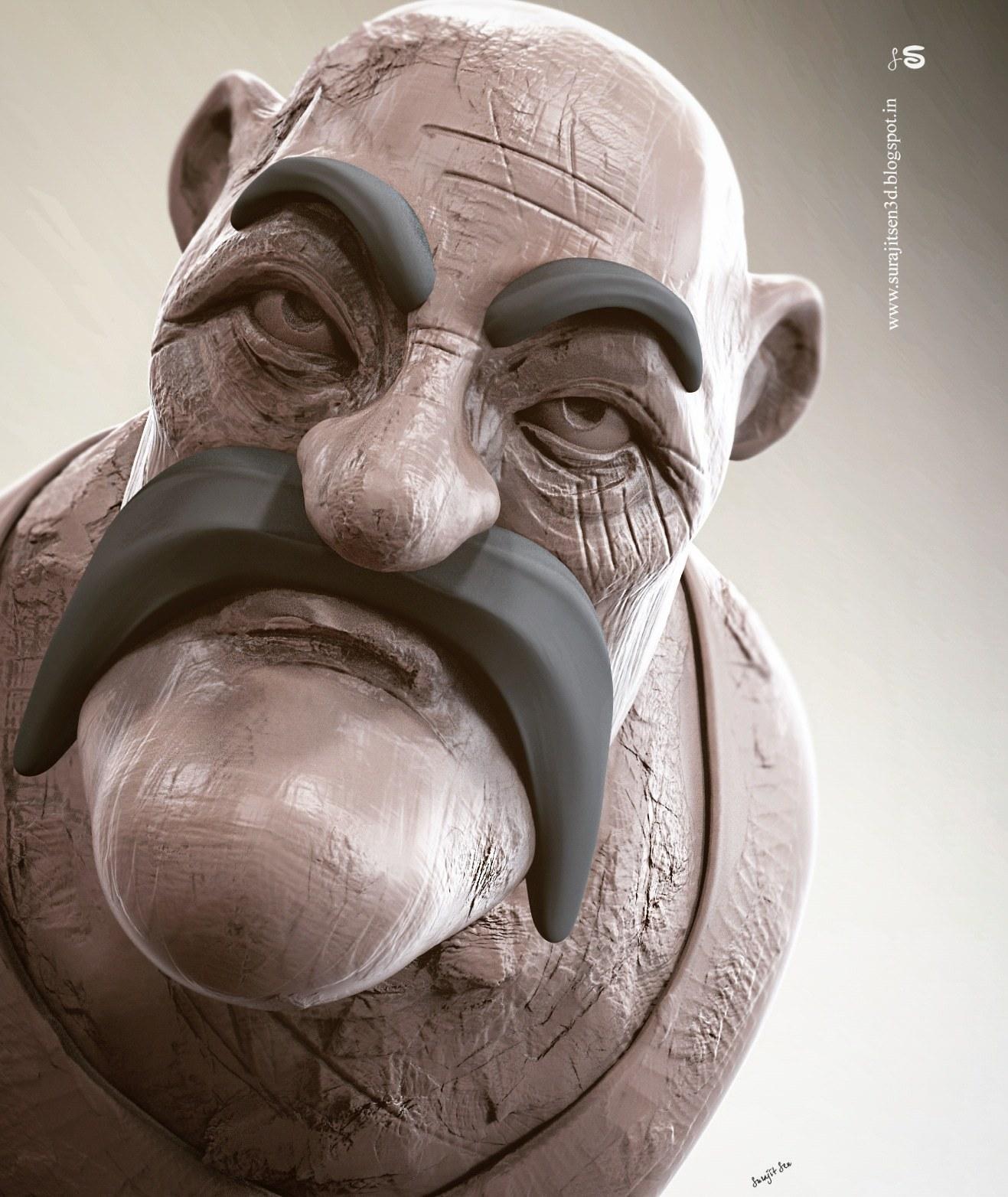 #doodle #quicksculpt #study Robin.  My free time quick Digital sculpt study.