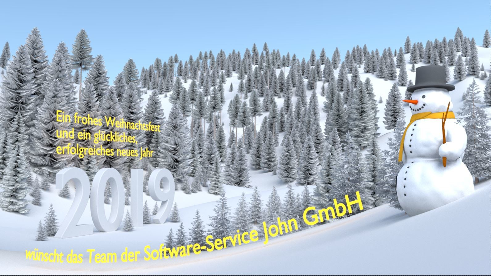 Test-Render3 with high-poly trees and text.  (Text is a bit better readable now)