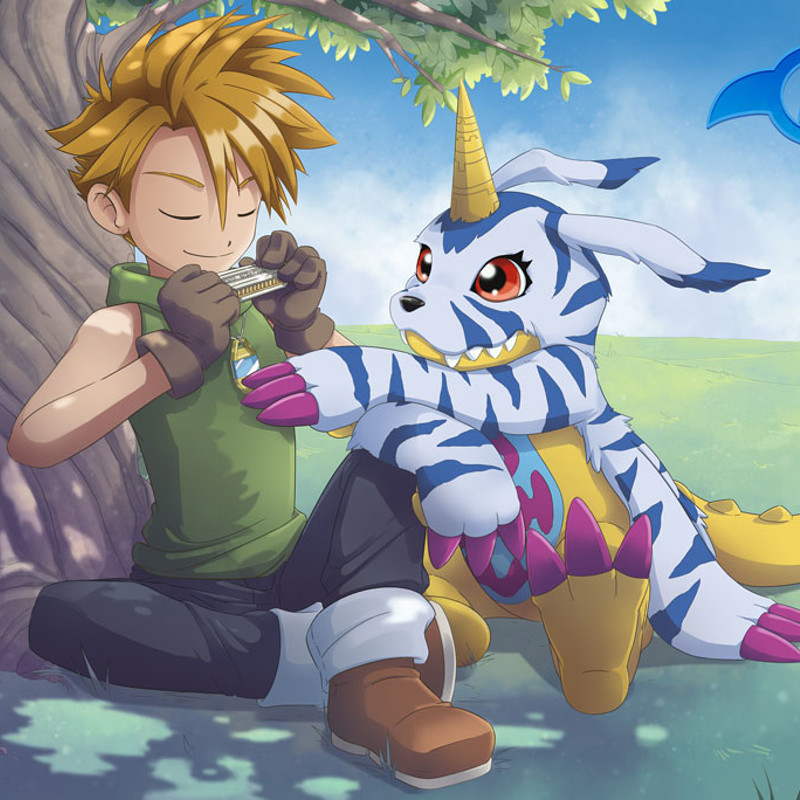 Digimon Fan Art - Matt and Gabumon