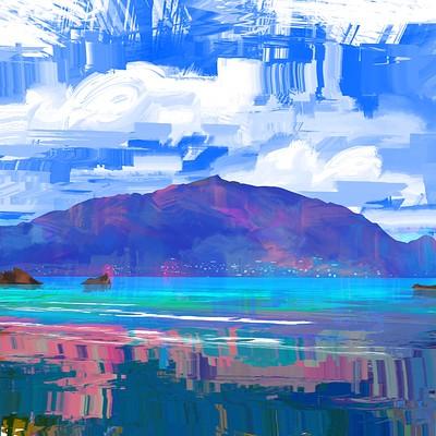 Romain flamand mont dore painting