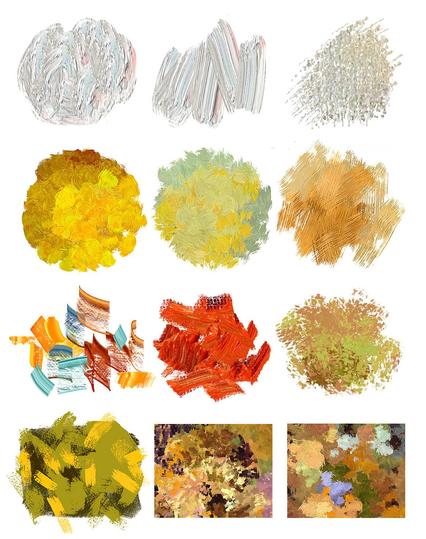 Emrullah cita digital oil painting brushes