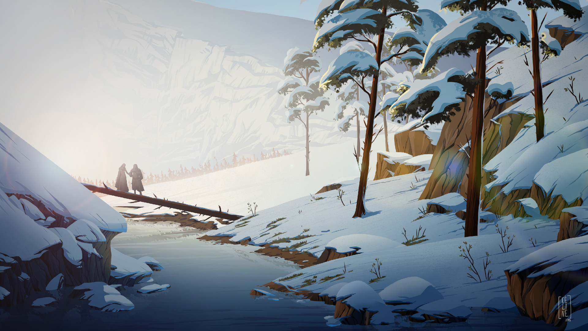 Celine Martin A Snowy Landscape