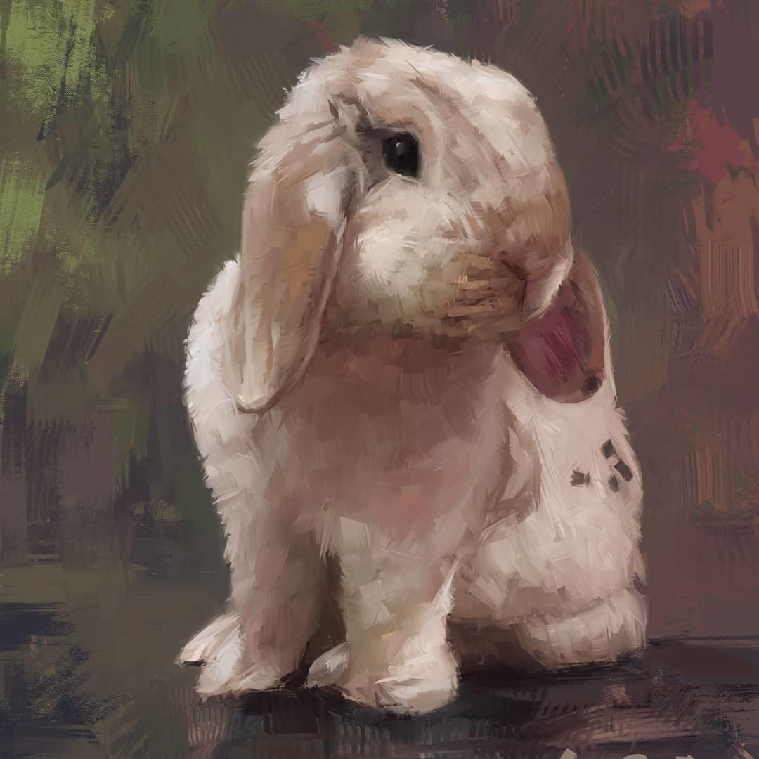 Bunny Portrait Commission