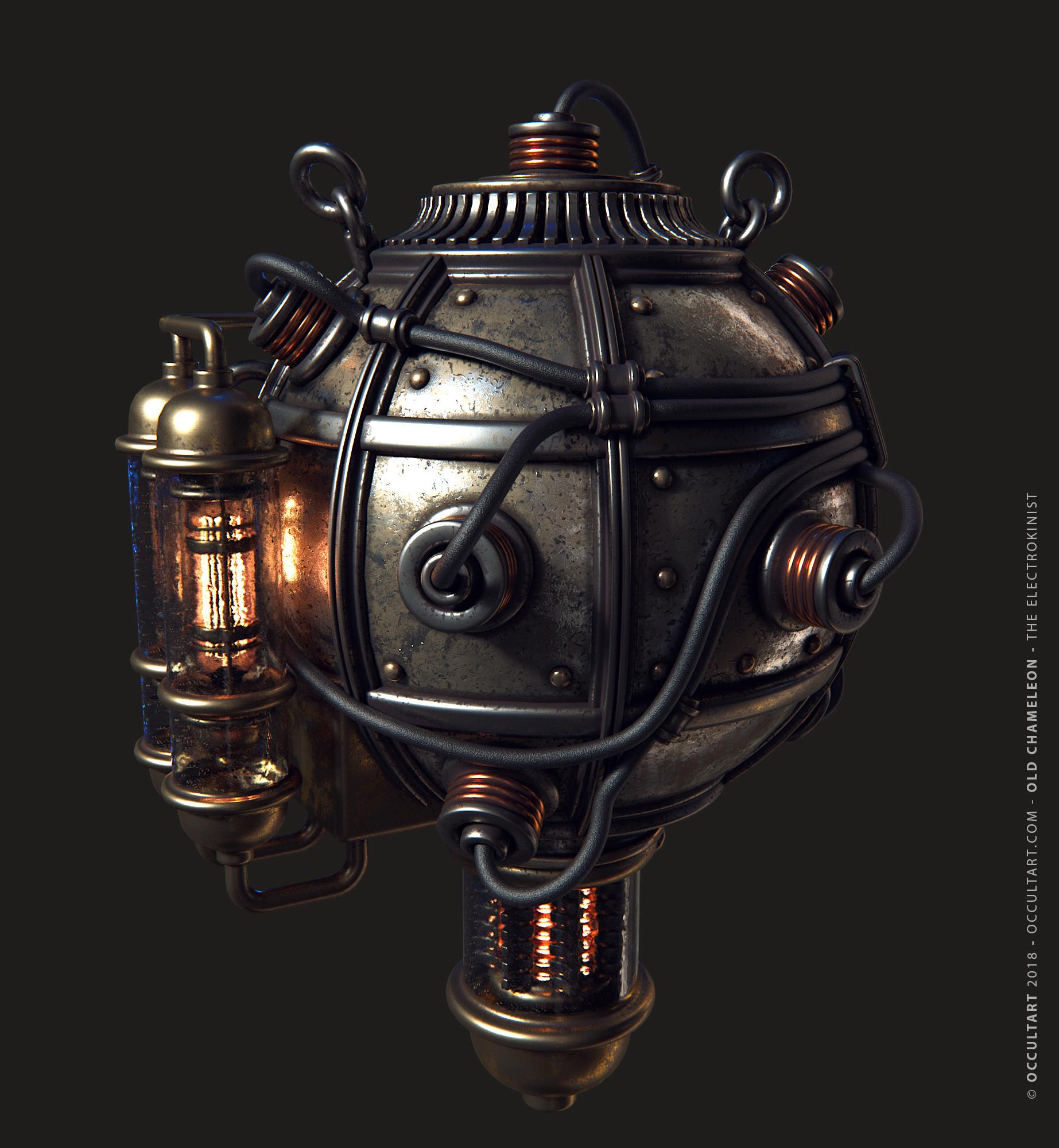 Occultart   occultart chameleon 08 metal sphere render