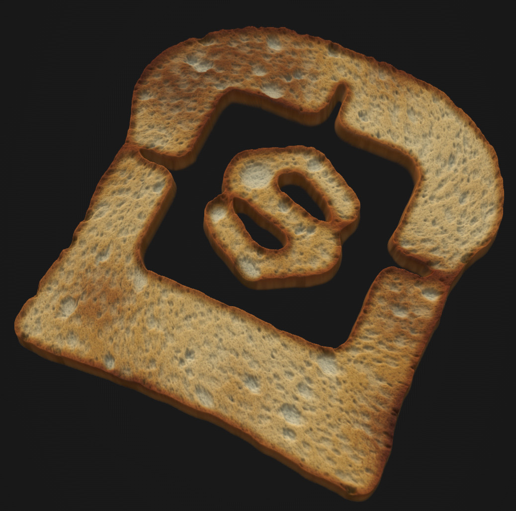 Trying to call allegorithmic attention with this one. lol Doesnt work in the real world (I mean, the cut on the toast).