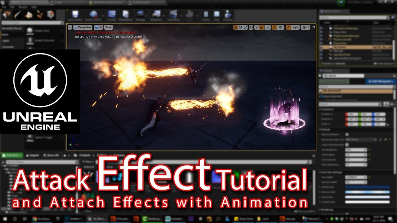 Ashif Ali - Unreal engine Attack Effect Tutorial | attach