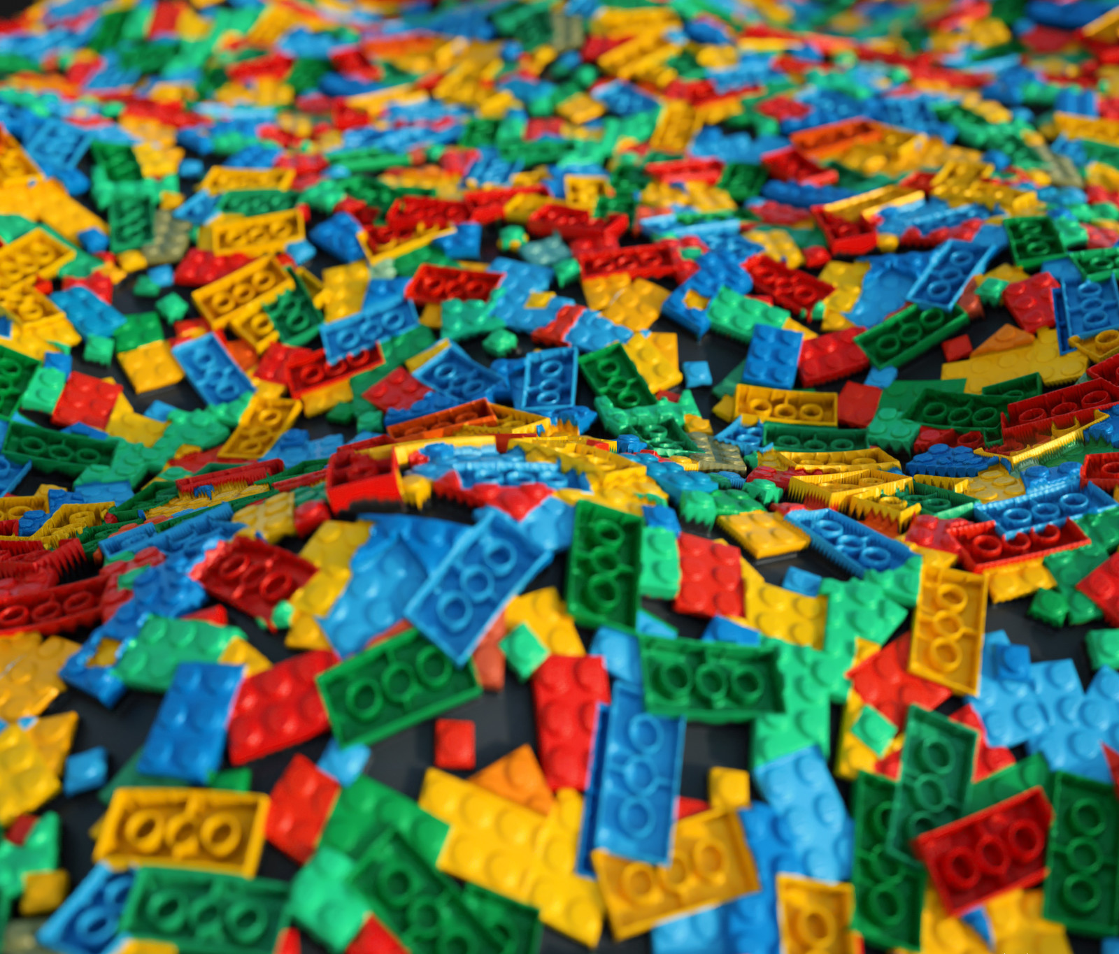 Lot of jaggies and of course bended legos. :)