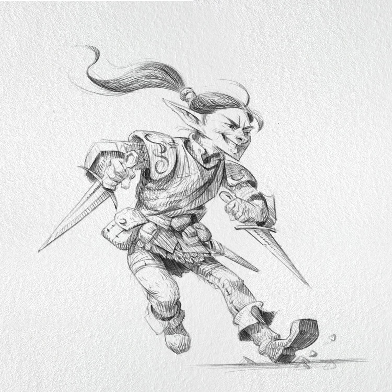 Fridogast, Master of the swift dagger/short sword style