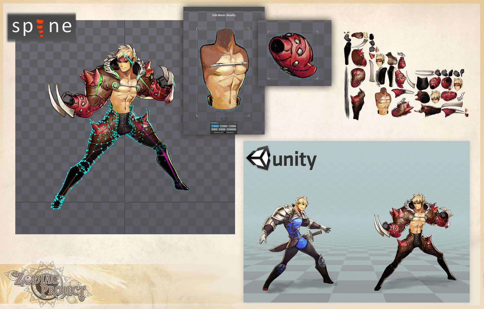 - Setup et rigging de personnage - Optimisation - Mise en place de process de création