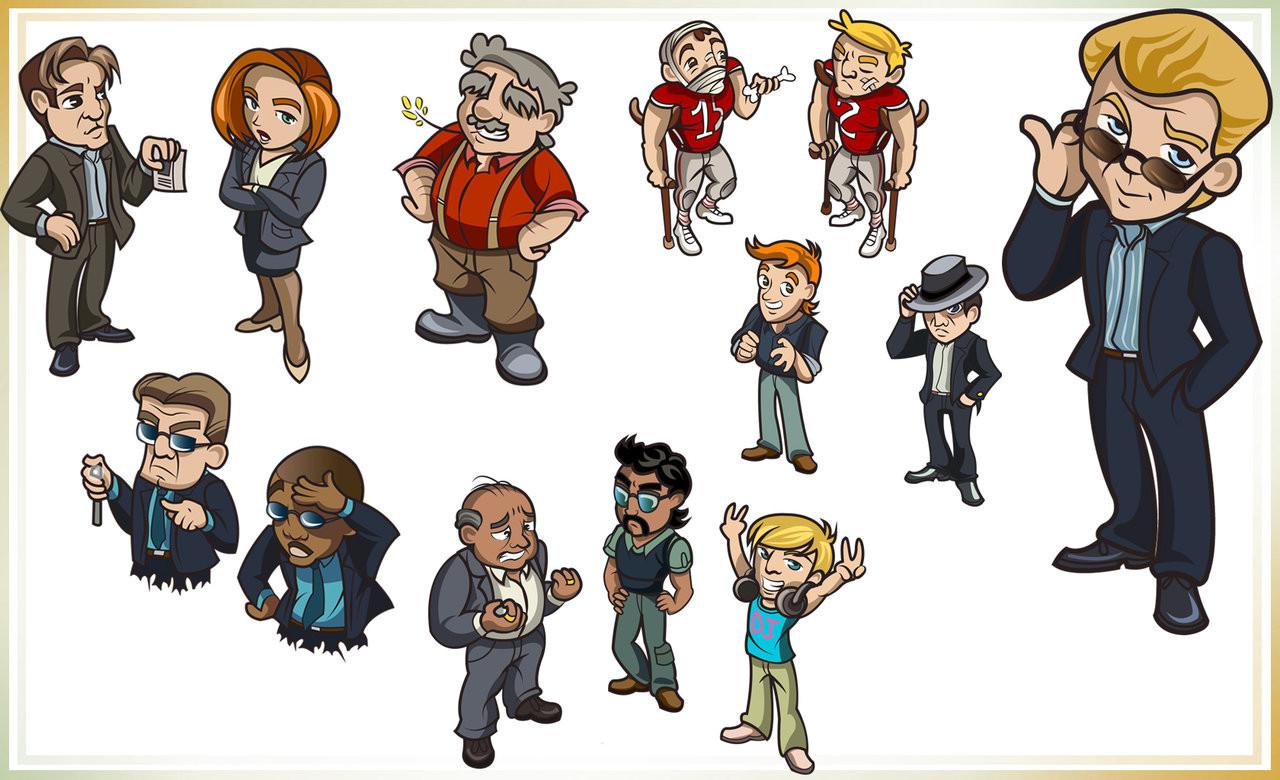Création de personnage d'après le document de Game design