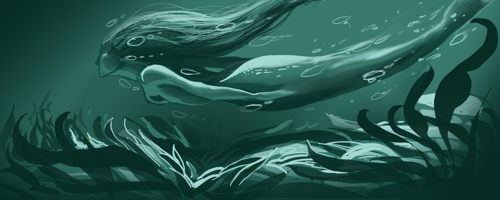 Dessin personnel sur le thème des Sirènes