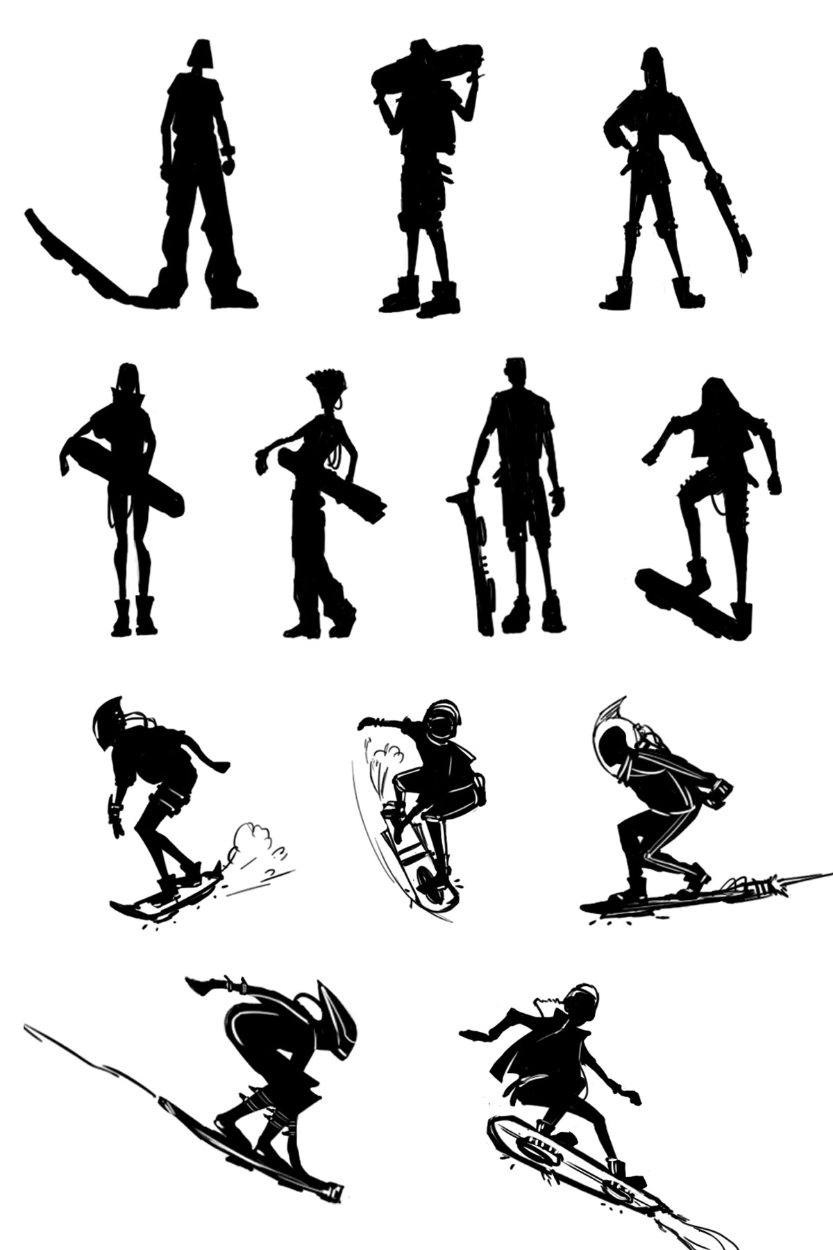 Early silhouettes