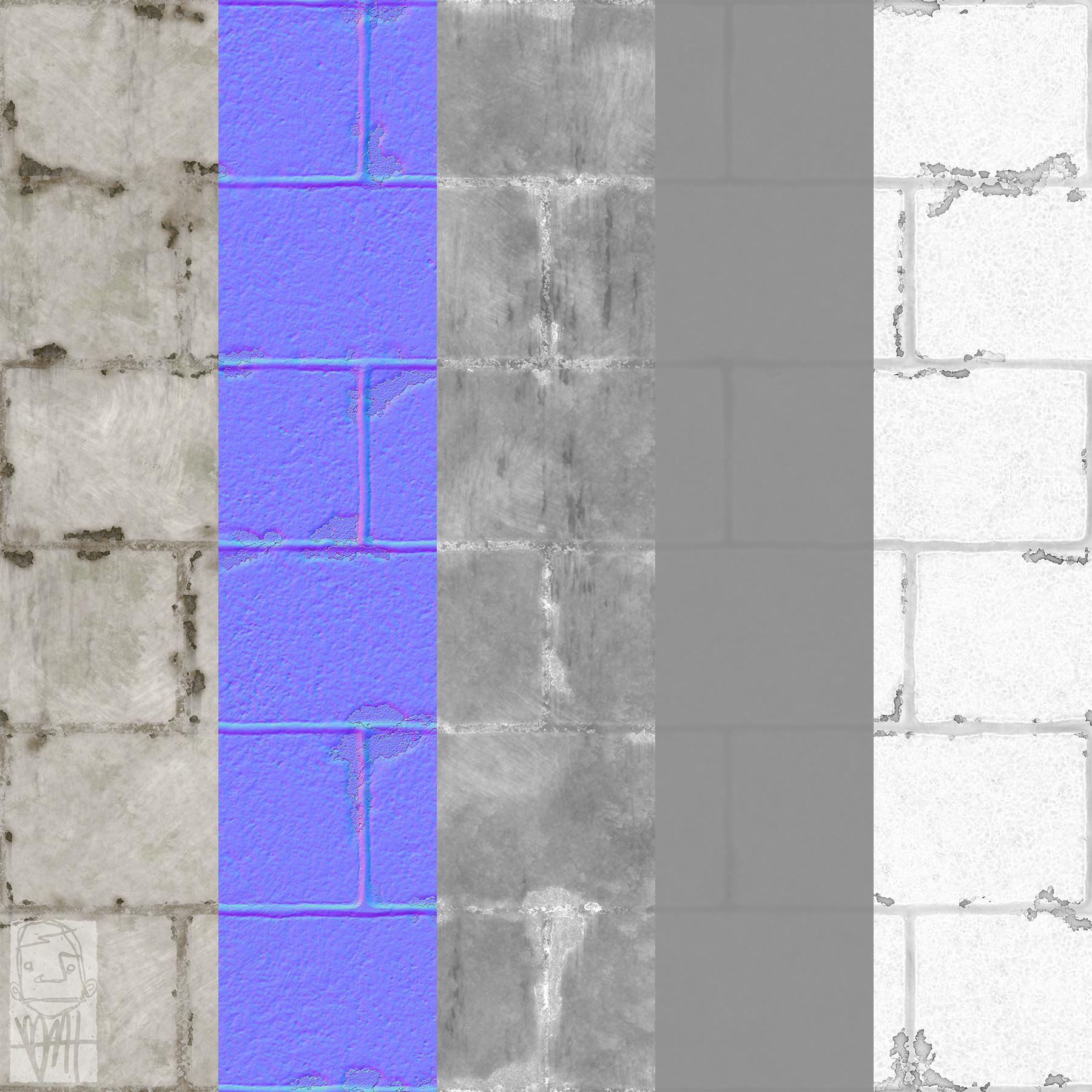 Brett marshall tucker cinderblock texture maps