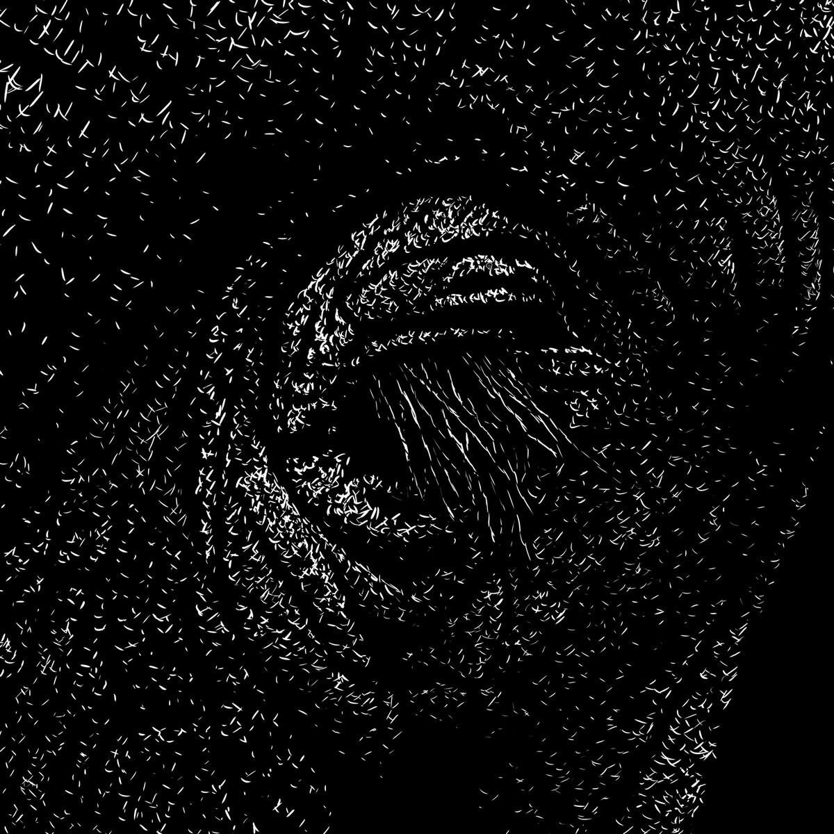 elephantidae, close-up Digital scratchboard, dec. 2018